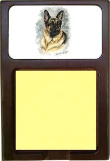 German Shepherd Note Holder