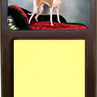Italalian Greyhound Note Holder