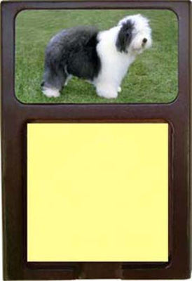 Old English Sheepdog Note Holder