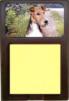 Wire Fox Terrier Note Holder