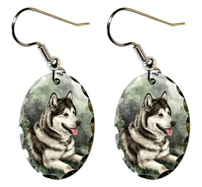 Alaskan Malamute Earrings