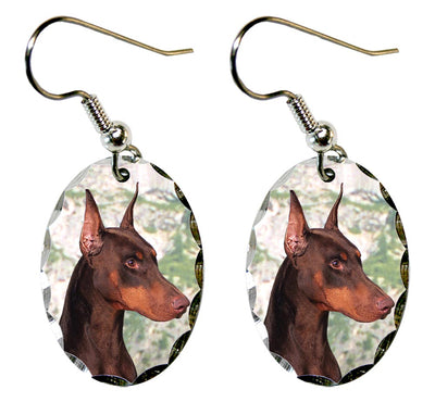 Doberman Pinscher Earrings