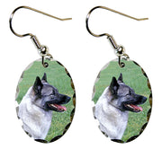 Norwegian Elkhound Earrings