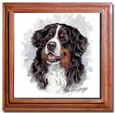 Bernese Mountain Dog Tile Trivet
