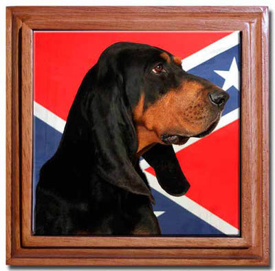 Black & Tan Coonhound Tile Trivet