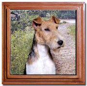 Wire Fox Terrier Tile Trivet