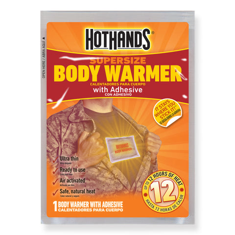 HotHands Body Warmers with Adhesive | HotHands Direct disposable body warmers, adhesive warming packs