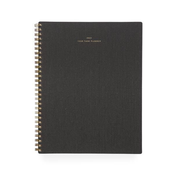 2021 Year Task Planner (Charcoal Gray)