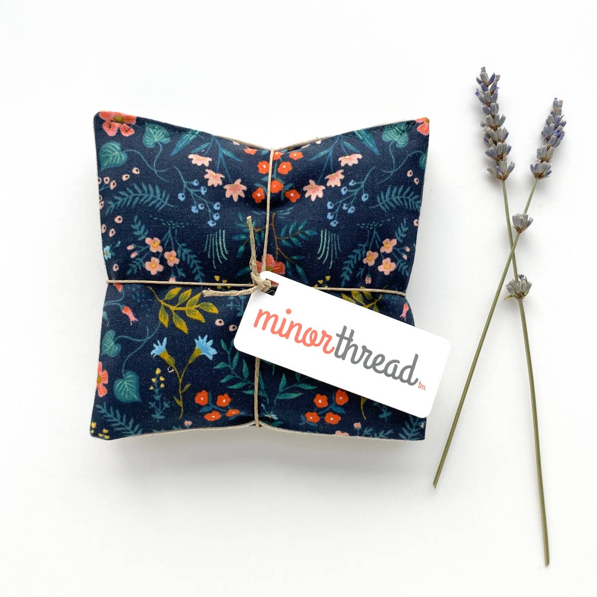 Organic Lavender Sachets in Wildwood Navy - Set of 2