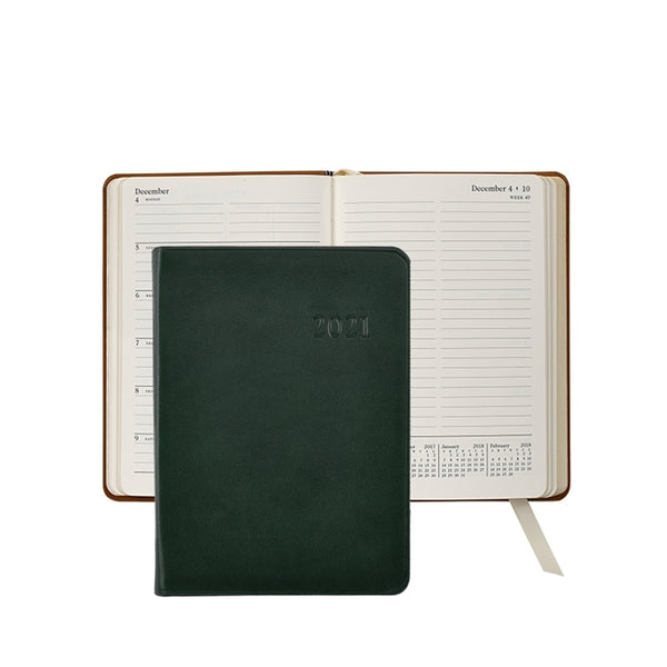 "2021 - 5"" x 7"" Weekly Journal - Green"