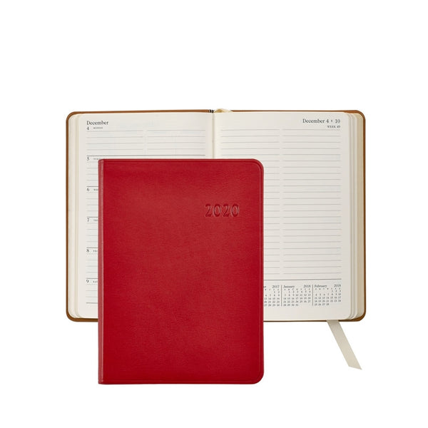 "2021 - 5"" x 7"" Weekly Journal - Red"