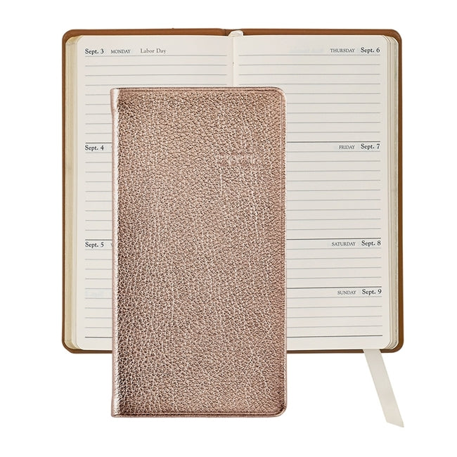 "2021 - 6"" Personal Pocket Journal - Rose Gold"