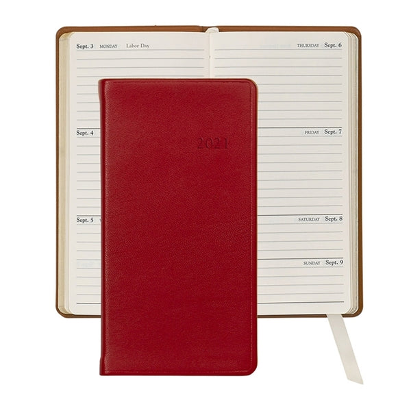 "2021 - 6"" Personal Pocket Journal - Red"