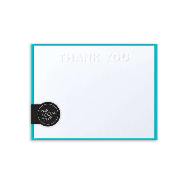 Aqua Thank You Note Set