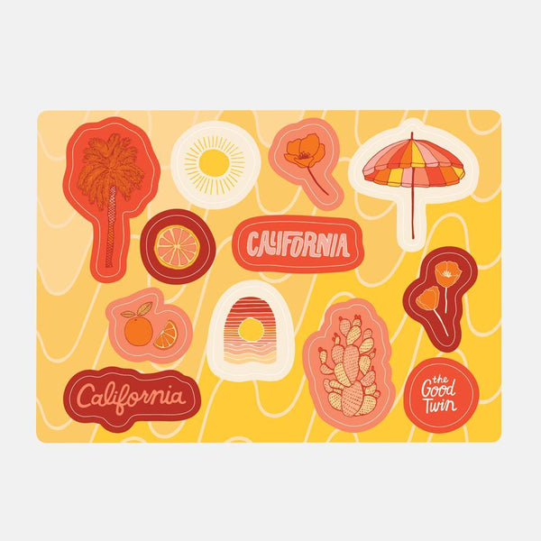 California Sticker Sheet