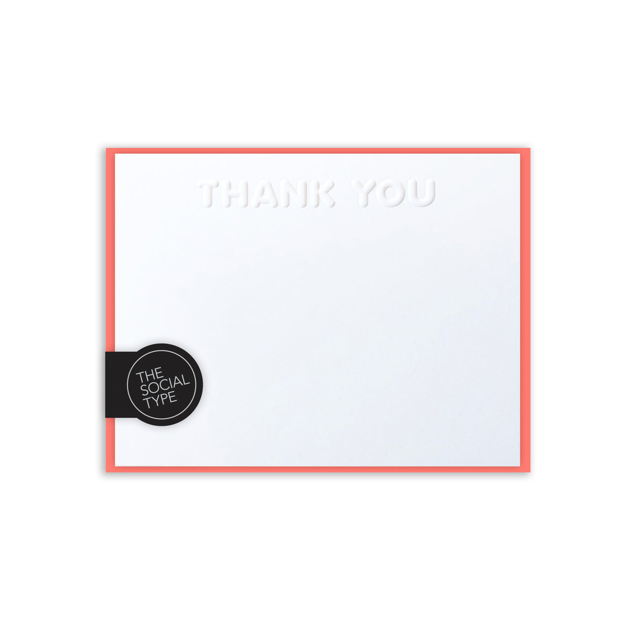 Coral Thank You Note Set