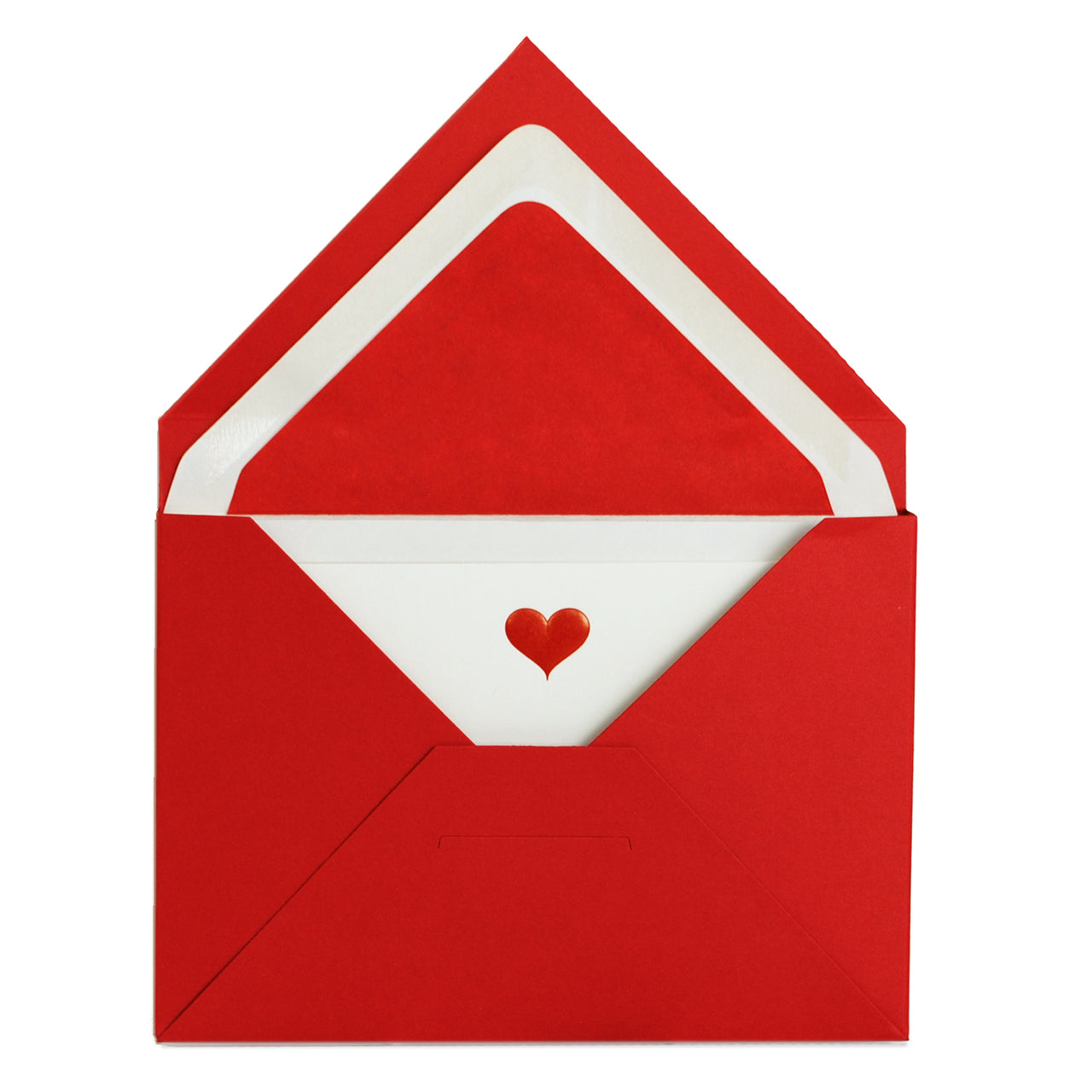 Red Heart Engraved Notecard Set