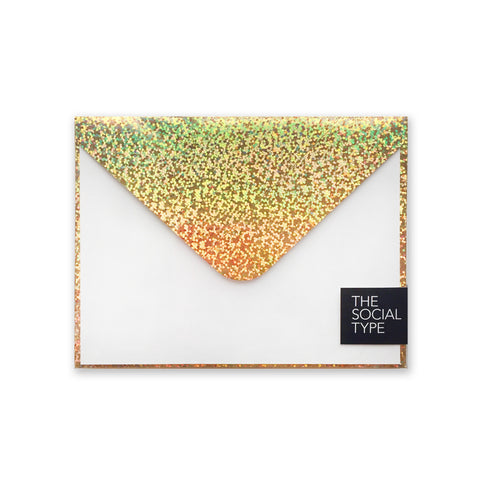 Gold Glitter Hologram Note Set