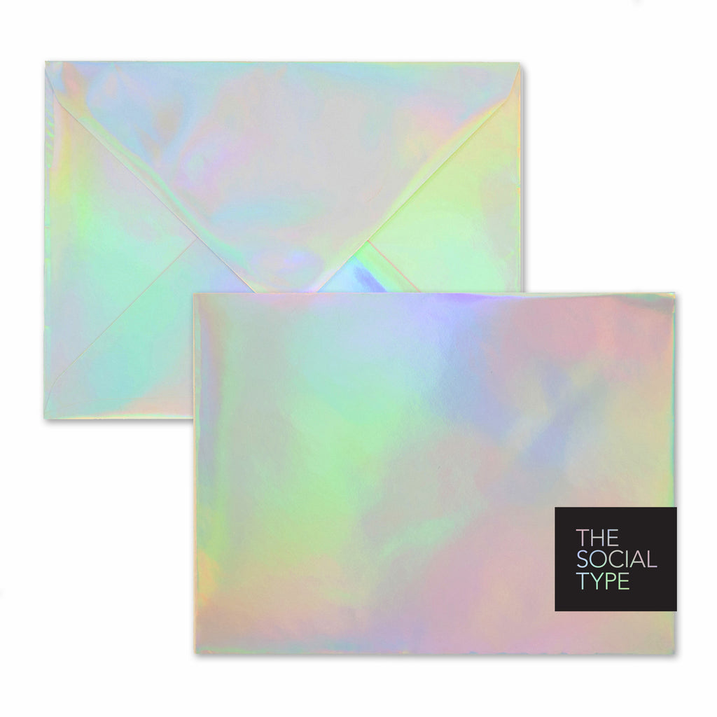 Silver Hologram Envelope Set