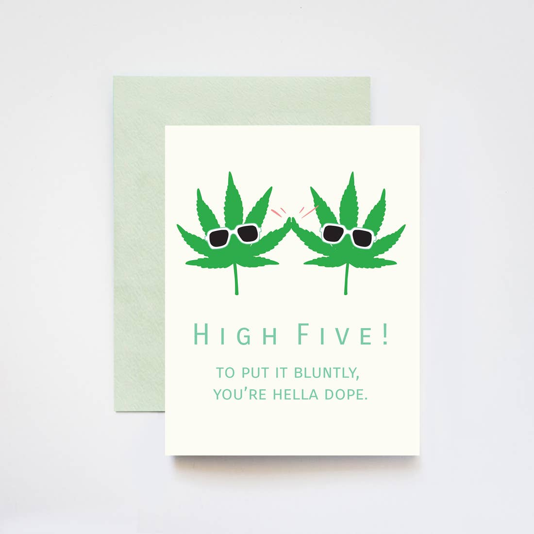 High Five You're Hella Dope Punny Congrat