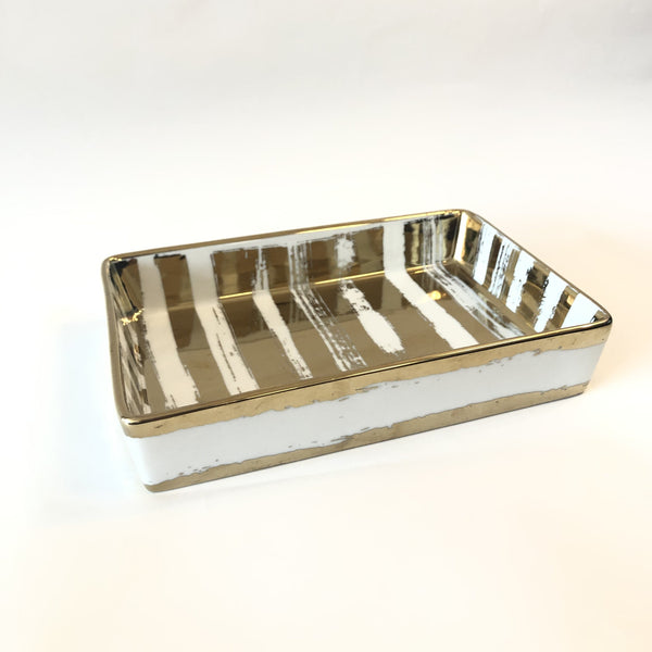 Gold Brush Nesting Tray Large