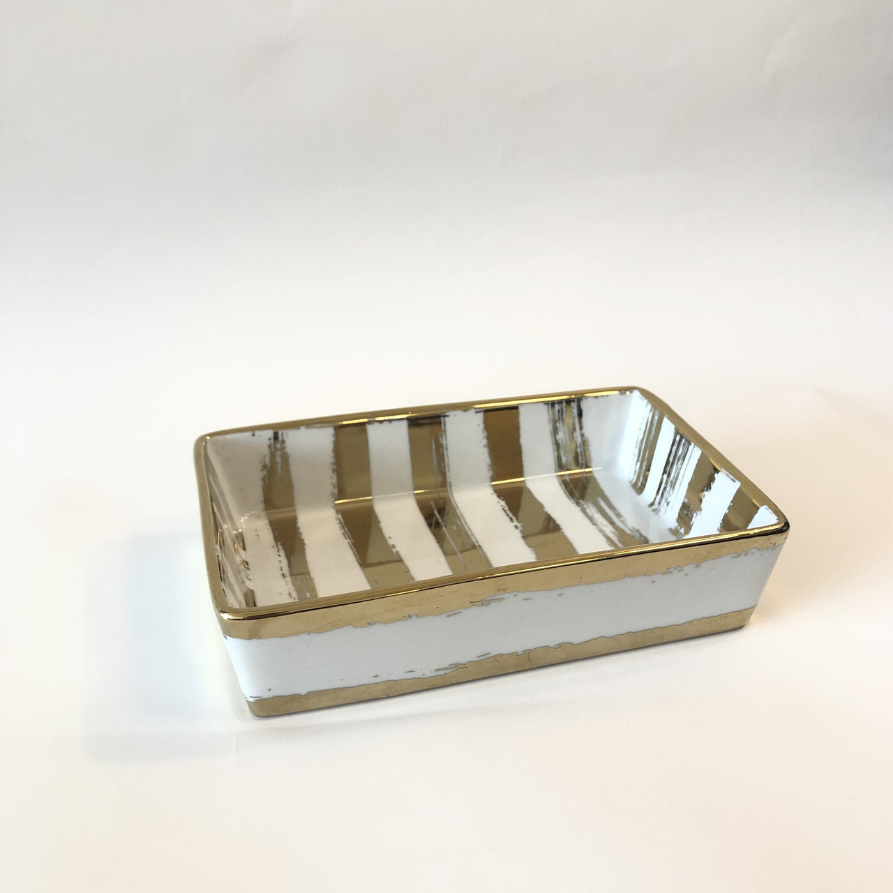 Gold Brush Nesting Tray Small