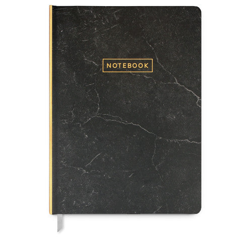 Large Marble Notebook, Black