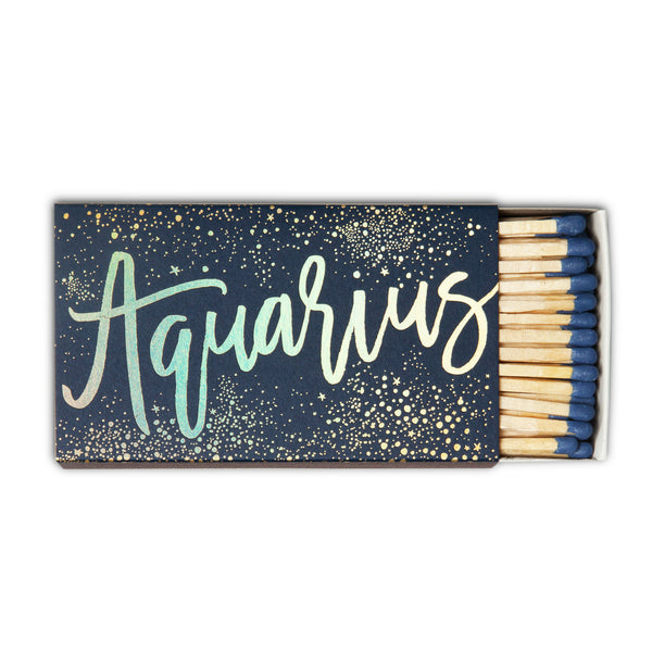 Aquarius Zodiac Matchbox