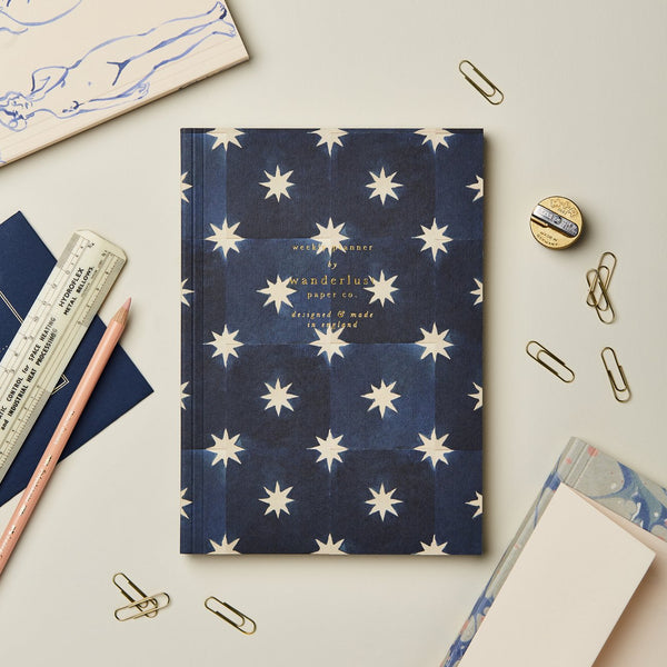 Navy Star Weekly Planner