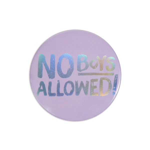 No Boys Pocket Mirror - Semi-Annual Sale