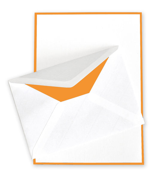 White/Orange Correspondence Stationery