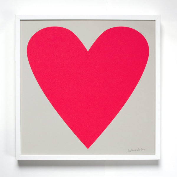 Unframed Neon Heart Art Print