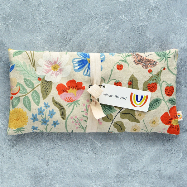 Flax & Lavender Eye Pillow, Strawberry Fields Linen