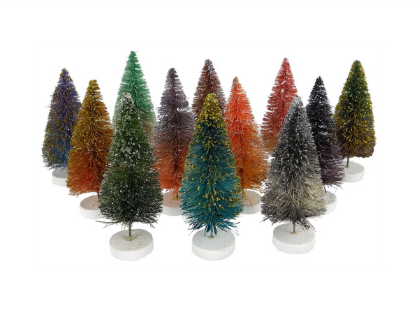 Glitter Ombre Trees, Small Set