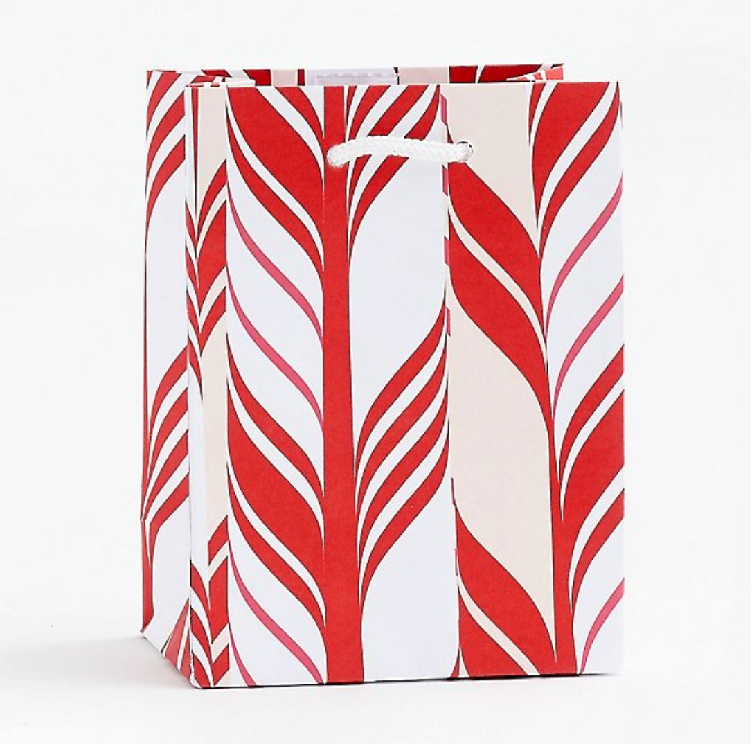 Candy Cane Stripe Gift Bag
