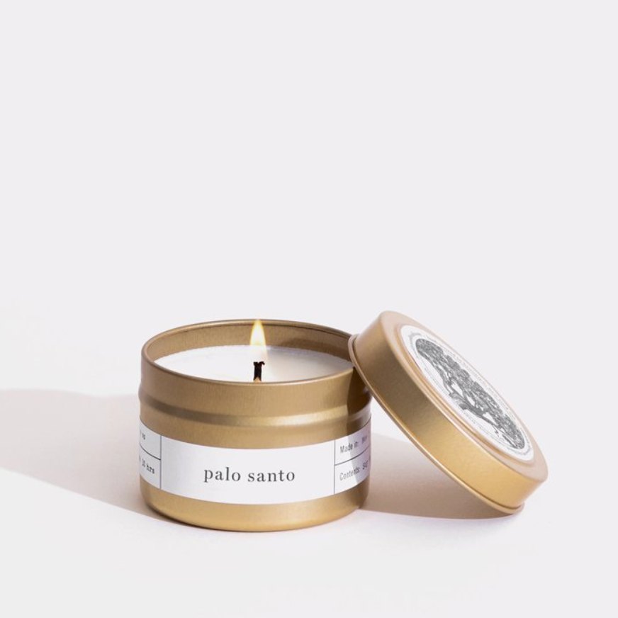 Palo Santo Gold Travel Candle