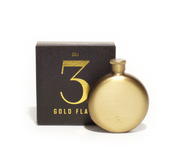 Gold 3 Oz Flask