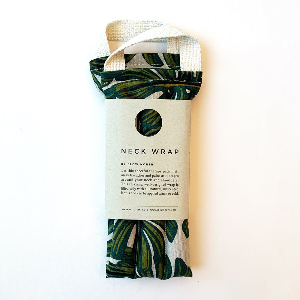 Neck Wrap Therapy - Tropical Monstera
