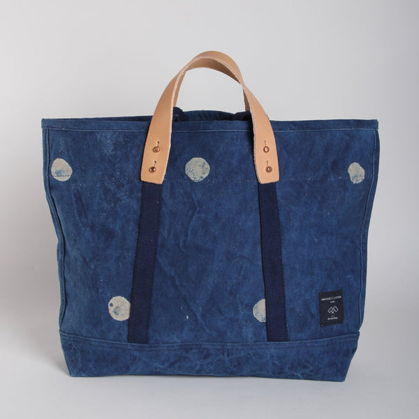 EAST-WEST TOTE | SMALL INDIGO DOT