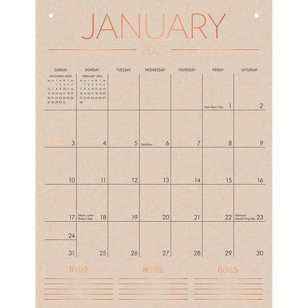 2021 Tall on the Wall Monthly Calendar