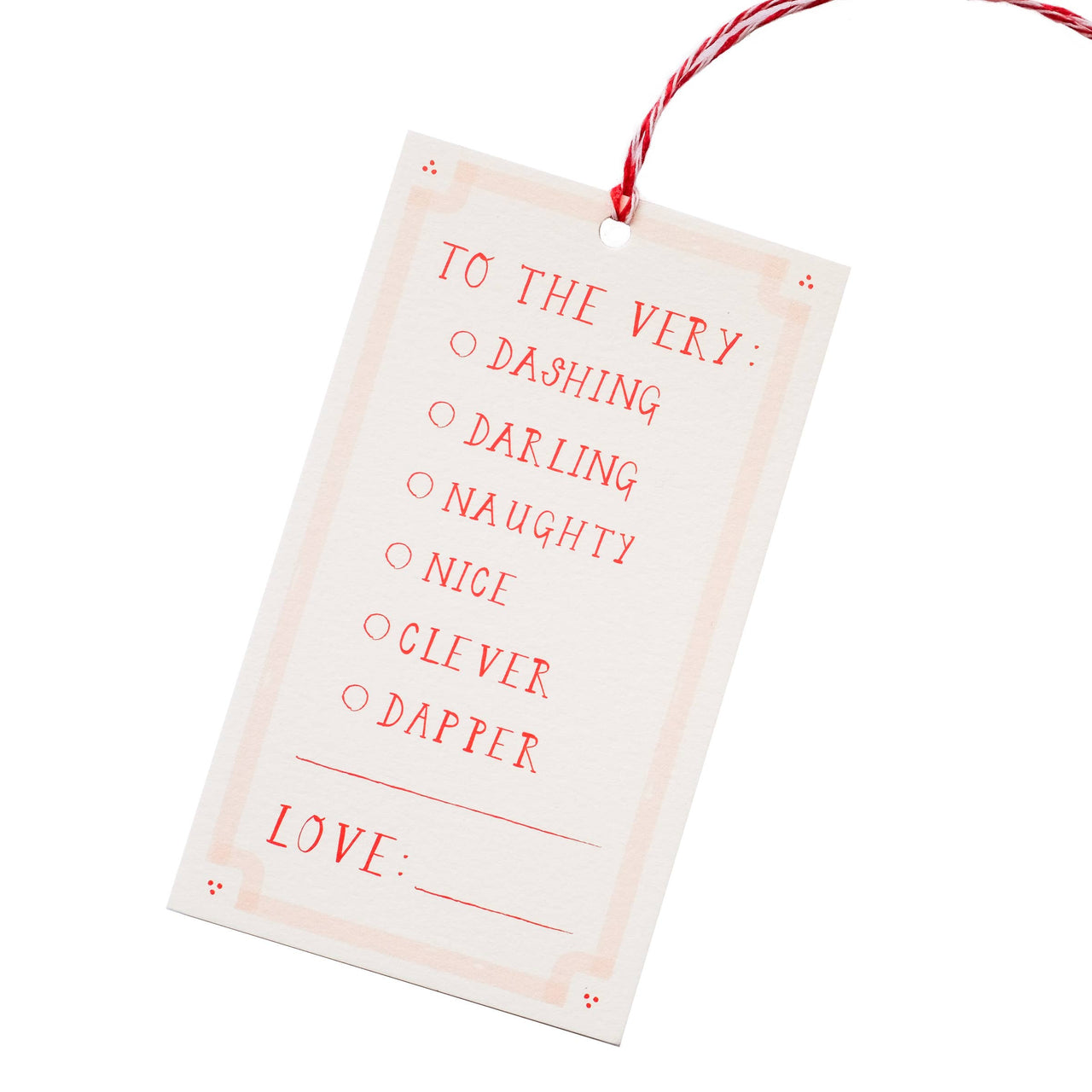 To the Very Dashing Gift Tags