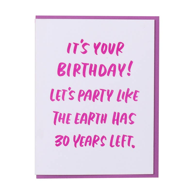 Thirty Years Card