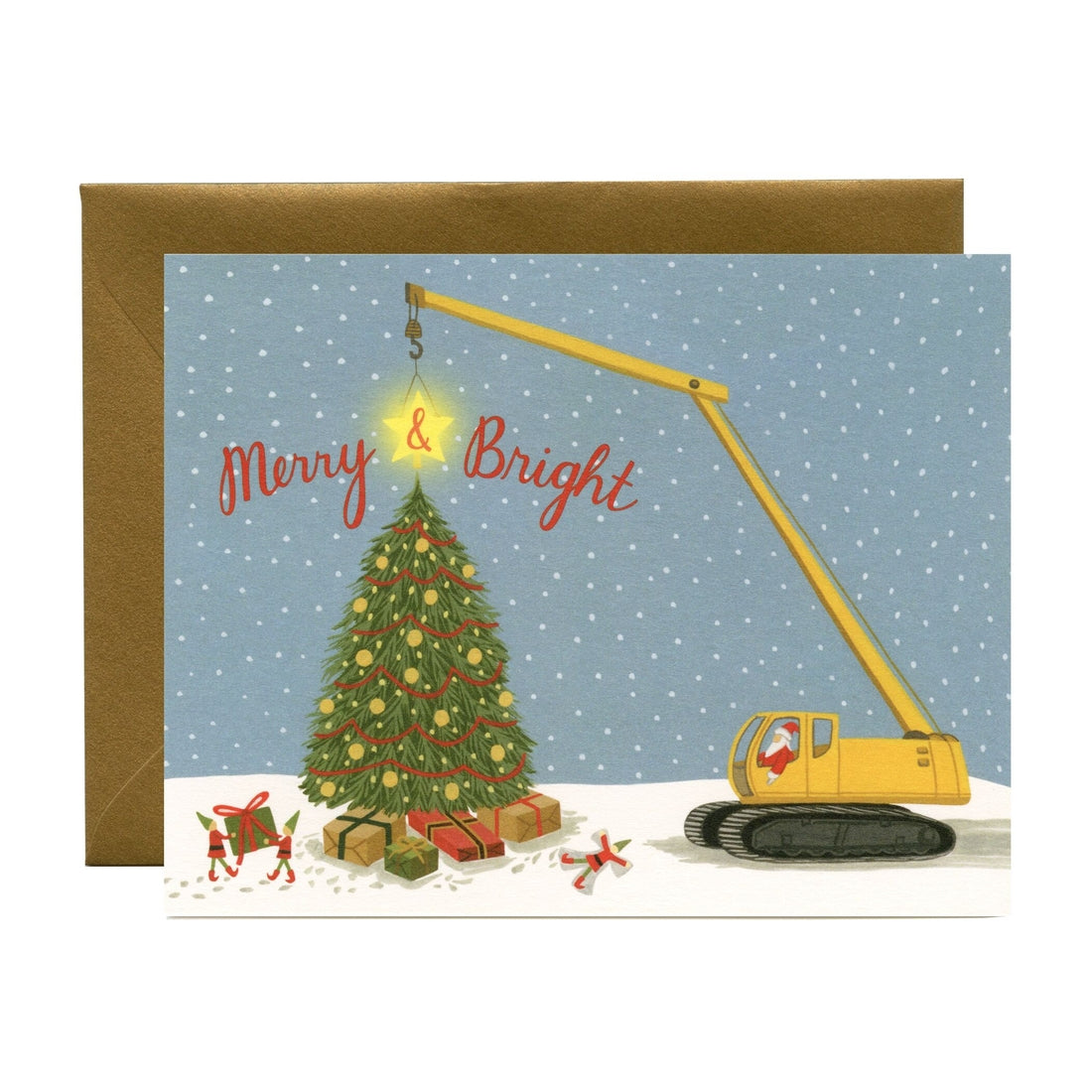 Construction Santa Cards - Boxed Set