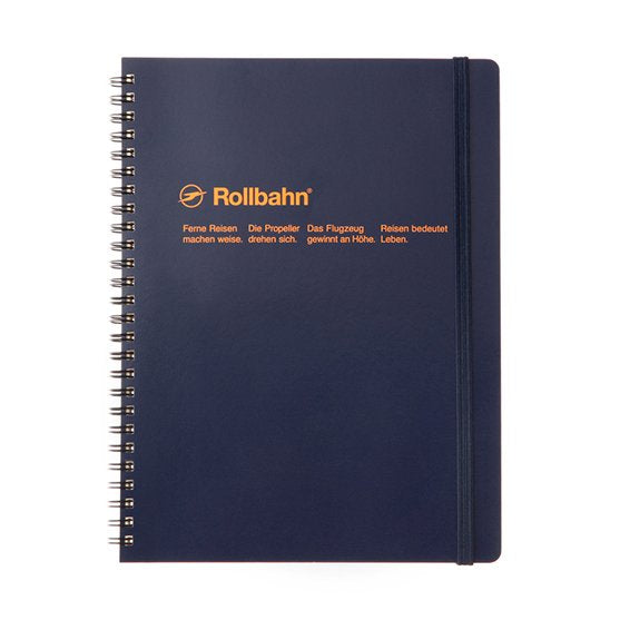 Rollbahn Spiral Notebook - A5 Dark Blue