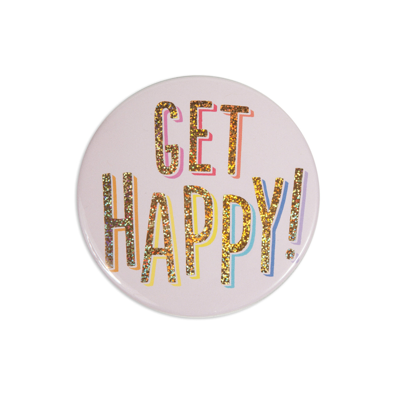 Get Happy Pocket Mirror
