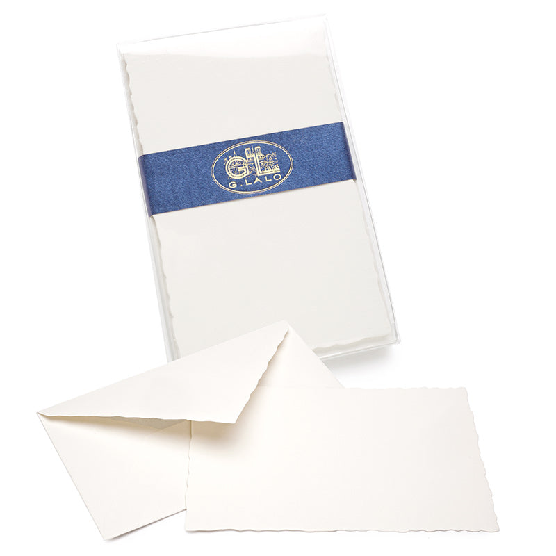 G. Lalo Deckled-Edge Note Set - Bright White