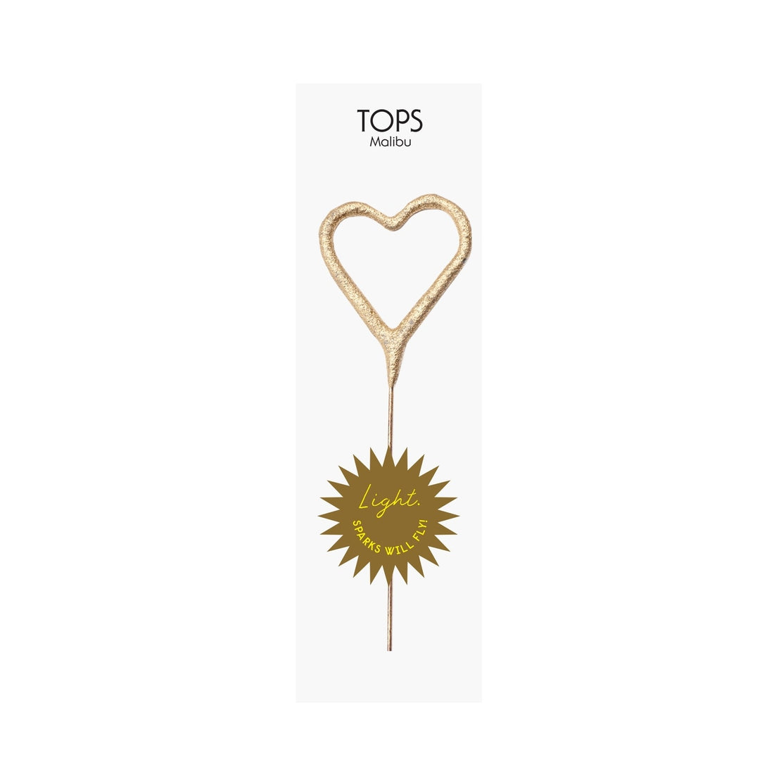 Mini Gold Heart Sparkler