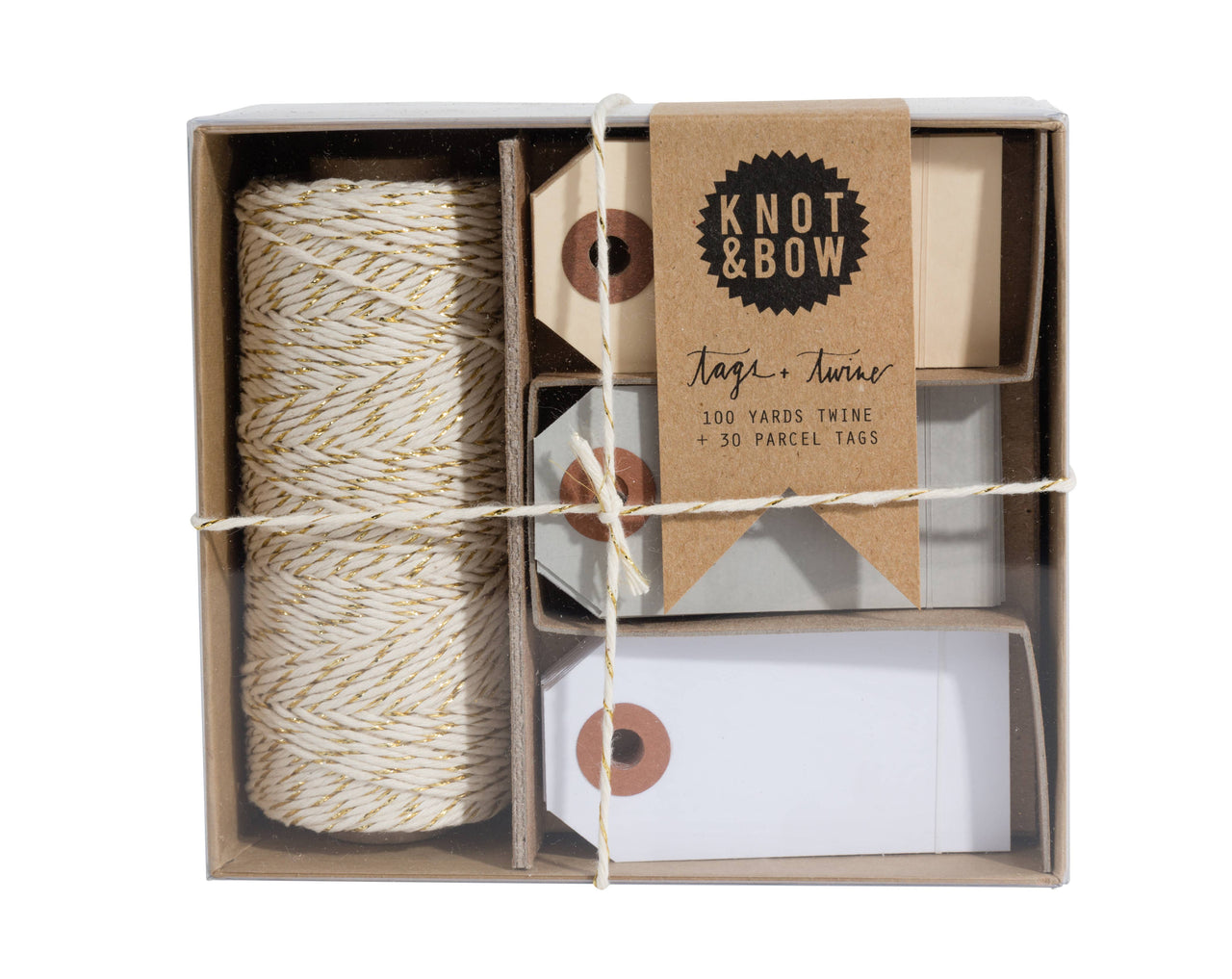 Gold/Natural Tag and Twine Box