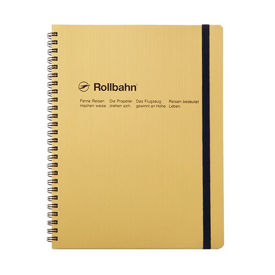 Rollbahn Spiral Notebook - A5 Gold