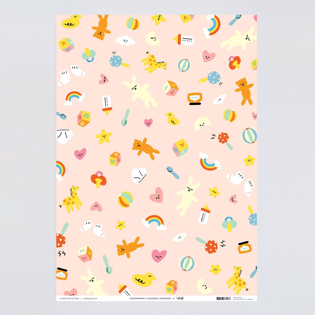 Hey Baby Gift Wrap Sheet